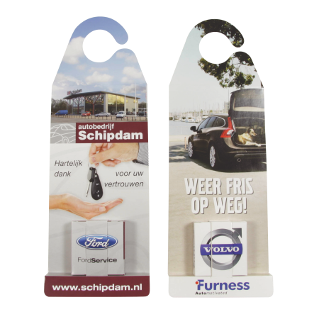 Car mirror hanger with mints