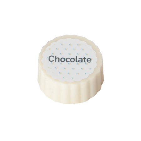 Logo bonbon, white chocolate