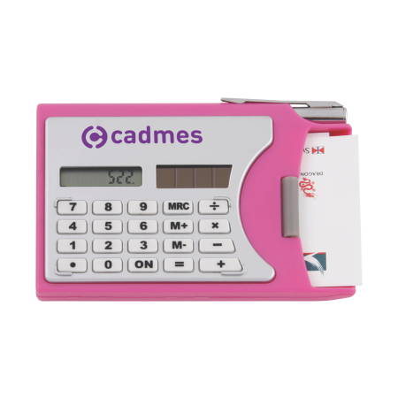 Calculator with visiting card cover