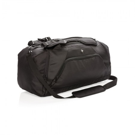 Swiss Peak RFID sports duffle & backpack, black
