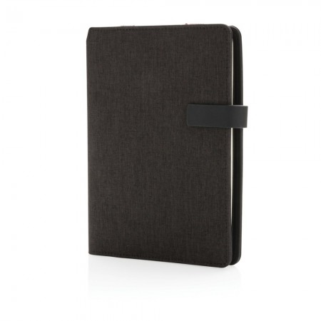 Kyoto A5 notebook cover with organizer, black