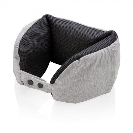 Deluxe microbead travel pillow, grey