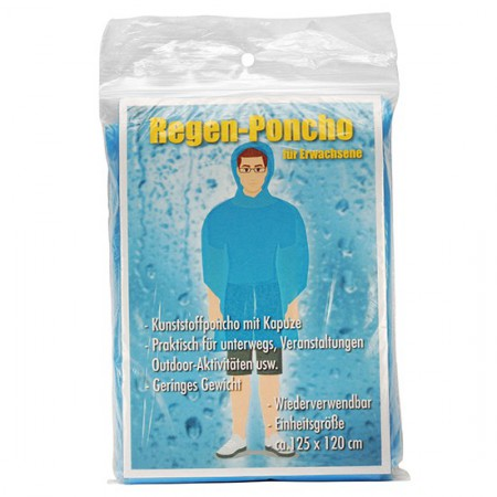Rain poncho for adults