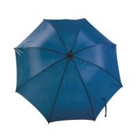 Umbrella with curved wooden shaft and grip