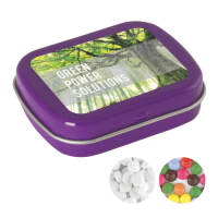 Hinge tin with mints