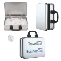 Suitcase tin mints