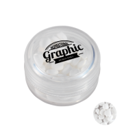 Round container with mints