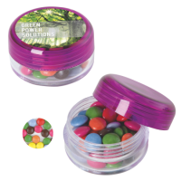 Round container with carletties