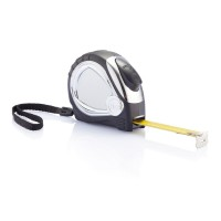 Chrome plated auto stop tape measure, black