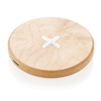5W wood wireless charger, brown