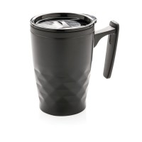 Geometric coffee tumbler, black