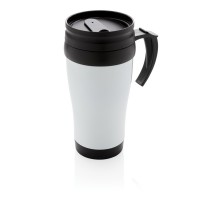 Stainless steel mug, silver