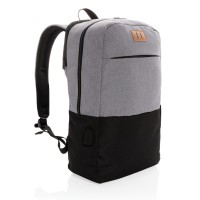 Modern 15.6 USB & RFID laptop backpack PVC free, black""