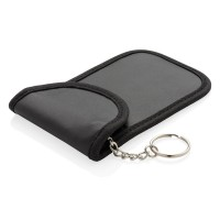Anti theft RFID car key pouch, black