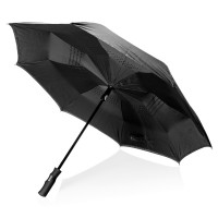Swiss Peak 23 auto open reversible umbrella, black""