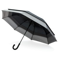 "Swiss Peak 23 to 27"" expandable umbrella, black"""