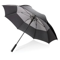 27 auto open duo color storm proof umbrella, grey""
