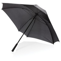 "27"" manual XL logo space square umbrella, black"