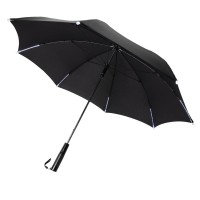 23 manual open/close LED umbrella, black""