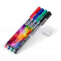 STAEDTLER Lumocolor permanent M, box with 4 pens