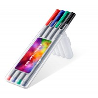 STAEDTLER triplus roller, box with 4 pens