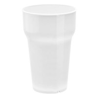 Plastic glass, stackable