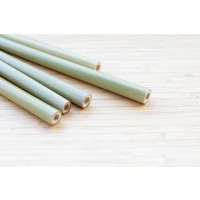 Straw made from bamboo - 4pack/no cleaning brush