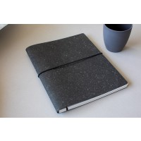 Notebook made from recycled leather