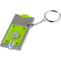 Allegro LED keychain light with coin holder