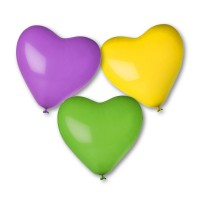 Heartshape balloons unprinted