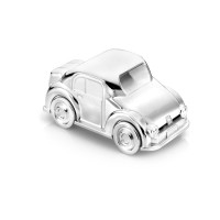 Money box Car, silver plated lacquered