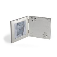 Photo frame Happy Baby 9x9 cm, silver plated lacquered