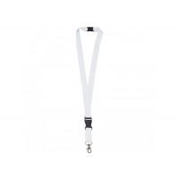 Polyester lanyard 20mm with buckle and hook