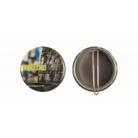 Button with clip 56 mm