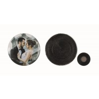 Button with clothing magnet 56 mm