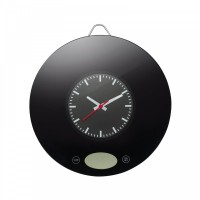 Kitchen scale with wall clock REFLECTS-SARANDA
