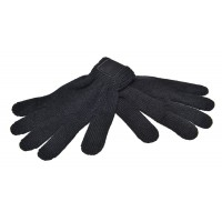 Retro Knitted Gloves with Label
